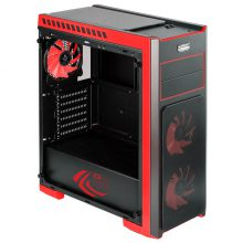 Red Z3 CRYSTAL GREEN TEMPERED GLASS Mid Tower Case