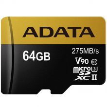 ADATA Premier ONE V90 UHS-II U3 Class 10 275MBps 64GB microSDXC With Adapter